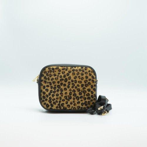 Lidya - Vacht - Crossbodytassen - Zwart - Cheetah