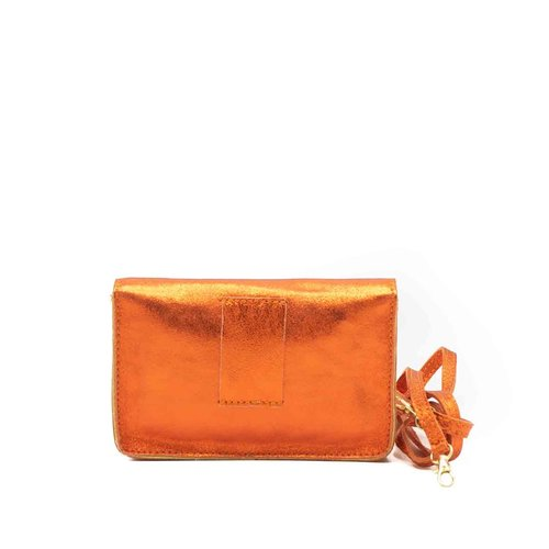 Laura - Metallic - Crossbodytassen - Oranje -