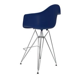 Eames Eames DAR Barkruk Donkerblauw