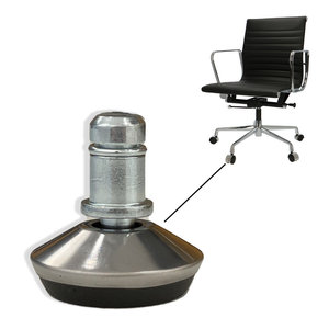 Fixed office chair feet - set of 5