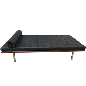 Barcelona Chair Pavilion Daybed Premium Zwart