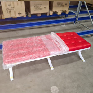 Barcelona Chair Pavilion chair Premium long stool red