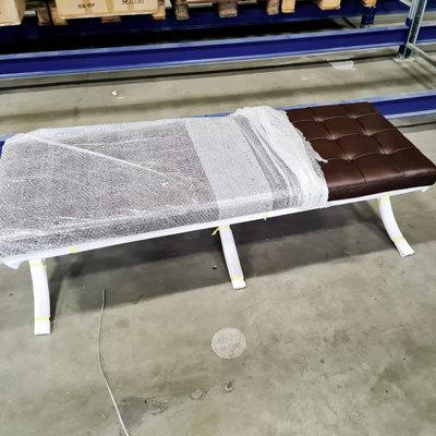 Barcelona chair Premium long stool brown