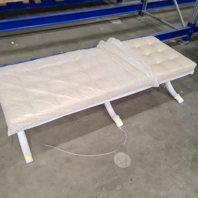 Barcelona chair Premium long stool greige