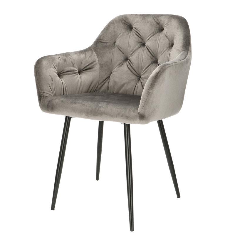Orville velvet armchair Vinny Grey