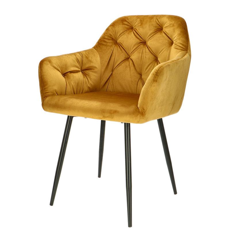 Orville velvet armchair Vinny Yellow