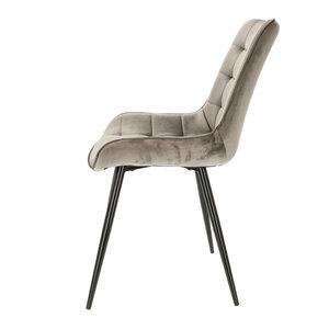Orville velvet chair Lisboa Grey