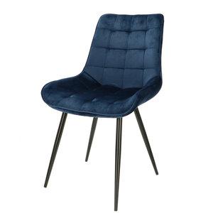 Orville velvet chair Lisboa Blue