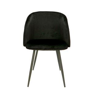 Orville velvet chair Vesper Black