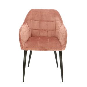 Orville velvet armchair Luca Pink
