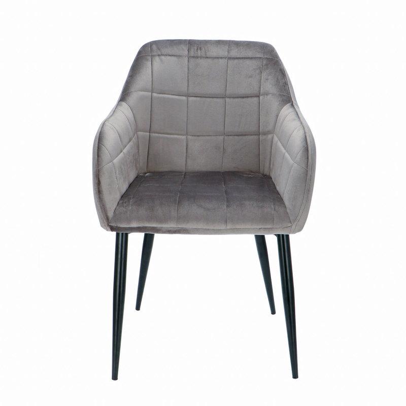 Orville velvet armchair Luca Grey