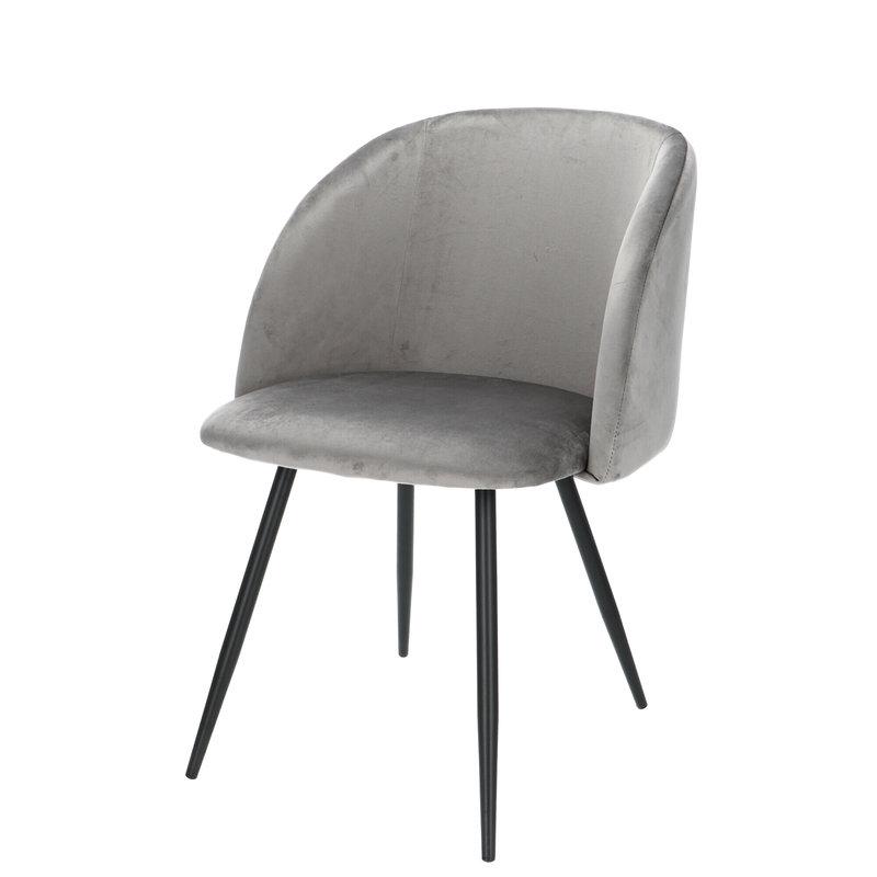 Orville velvet chair Vesper Grey