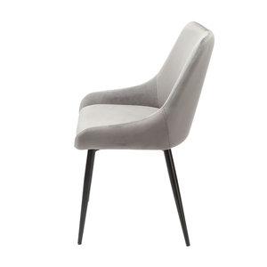 Orville velvet dining chair Fleur Grey