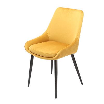 Orville velvet dining chair Fleur Yellow