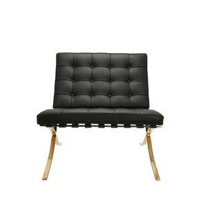 Barcelona Chair Barcelona Chair Premium Zwart / Goud