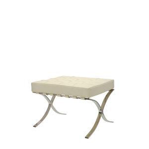 Barcelona Chair Ottoman Crème