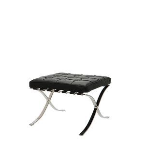 Barcelona Chair Ottoman Premium Zwart