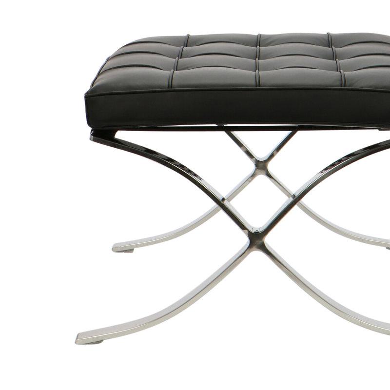 Barcelona Chair Barcelona Chair Ottoman Premium Zwart