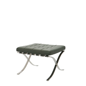 Barcelona Chair Ottoman Premium Grijs