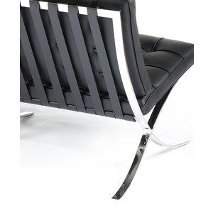 Barcelona Chair Barcelona Premium Tweezits Bank Zwart