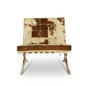 Barcelona Chair Koeienhuid Bruin/Crème
