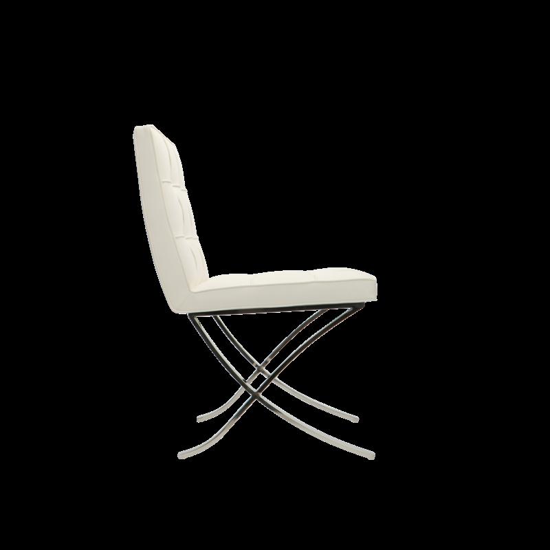 Barcelona Chair Barcelona Eetkamerstoelen Premium Wit - Set van 2