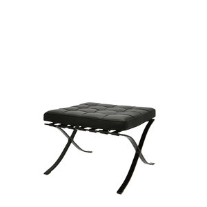Barcelona Chair Ottoman Premium All Black