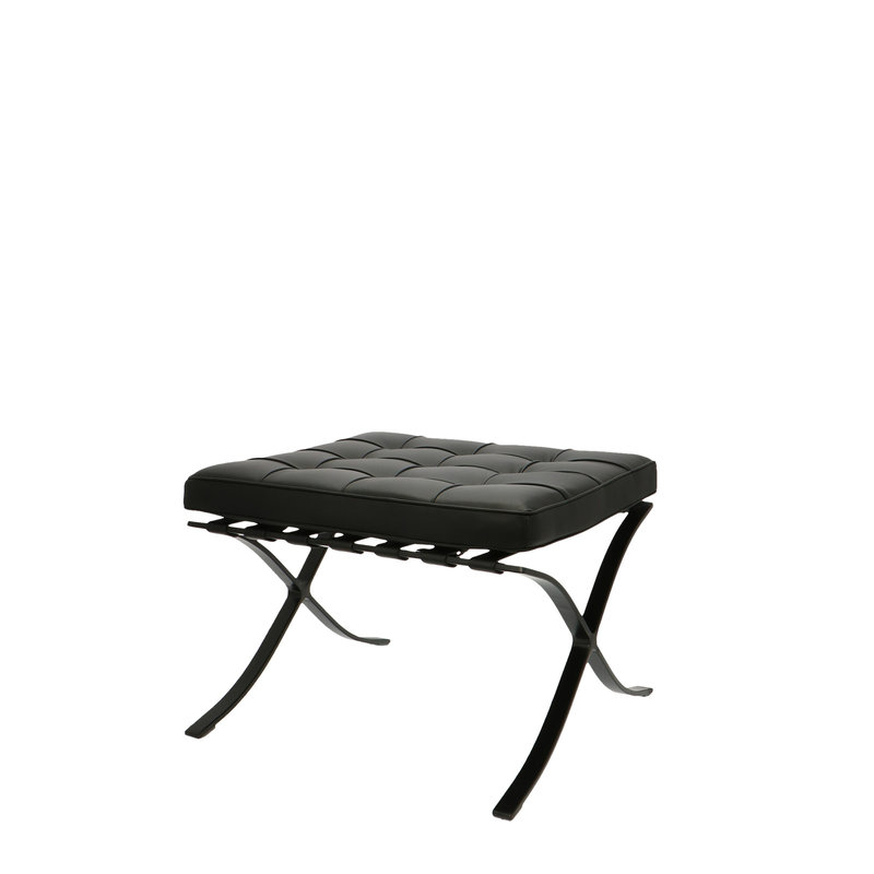 Barcelona Chair Barcelona Chair Ottoman Premium All Black