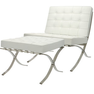 Pavilion chair Pavilion chair Wit met ottoman