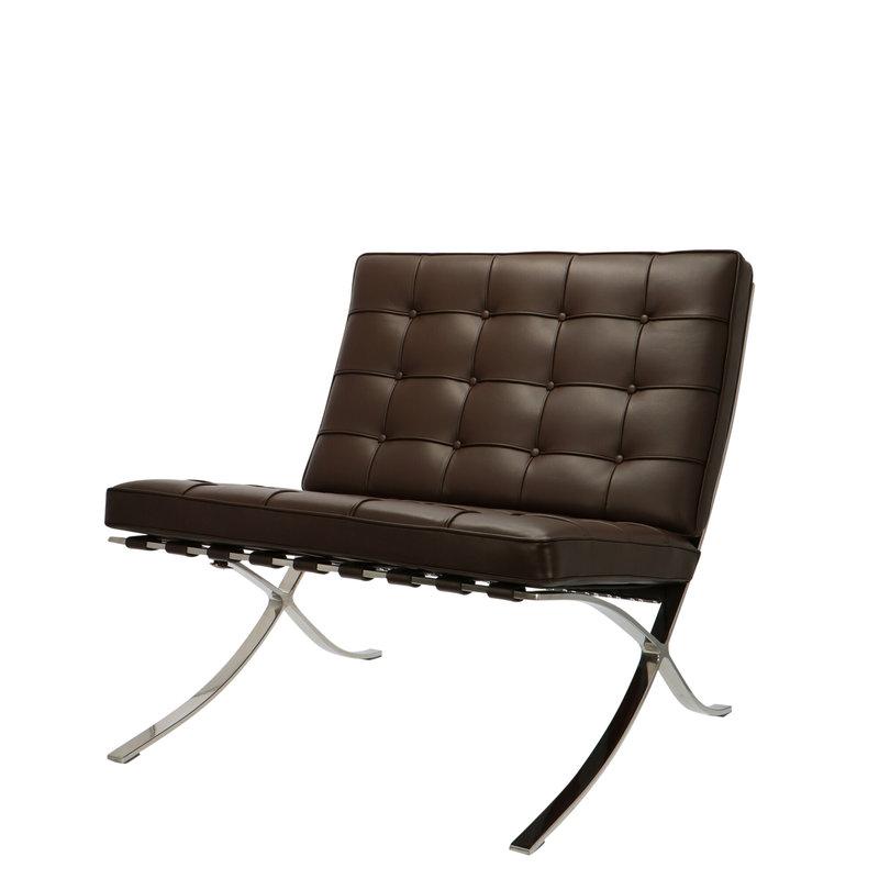 Pavilion chair Pavilion chair Premium Bruin met ottoman