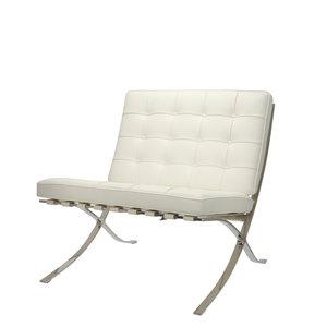 Barcelona Chair Premium Weiß