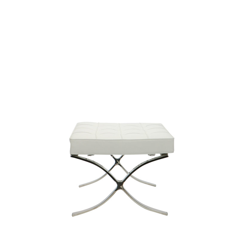 Barcelona chair Barcelona Chair Ottoman White