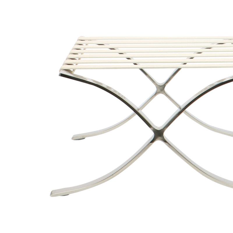 Barcelona chair Barcelona Chair Ottoman Premium White