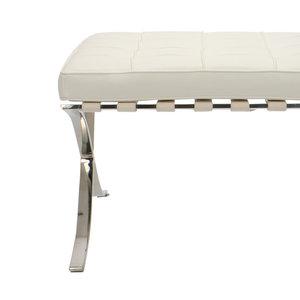 Barcelona chair Barcelona Chair Ottoman Premium Weiß