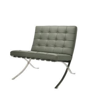 Barcelona Chair Premium Grau