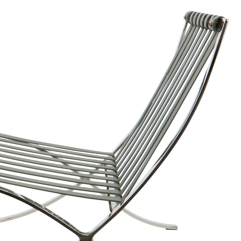 Barcelona chair Chaise Barcelona Premium Gris
