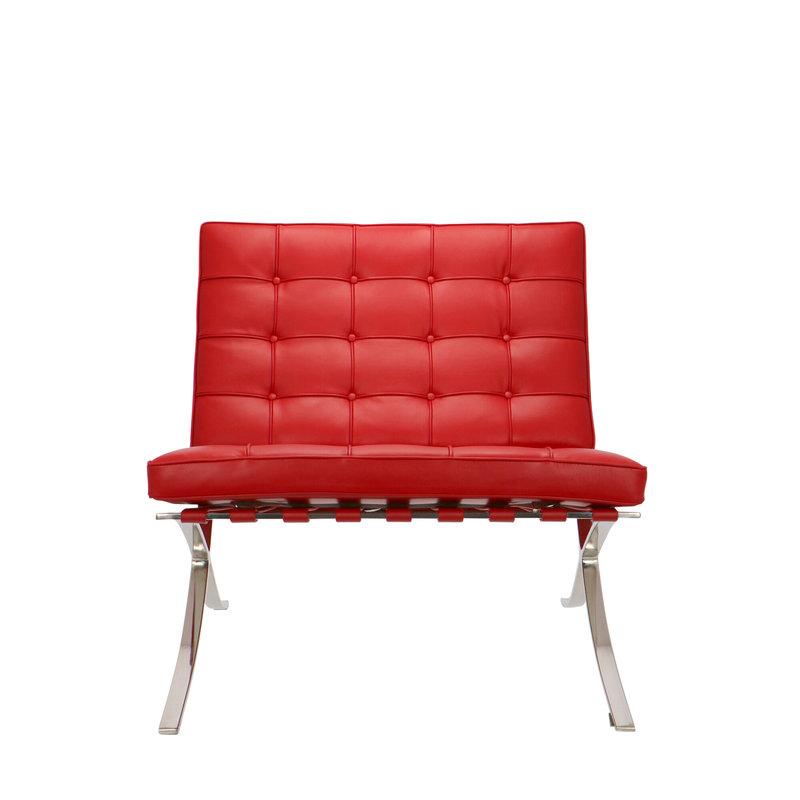 Barcelona chair Barcelona Stol Premium Rød