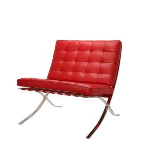 Chaise Barcelona Premium Rouge