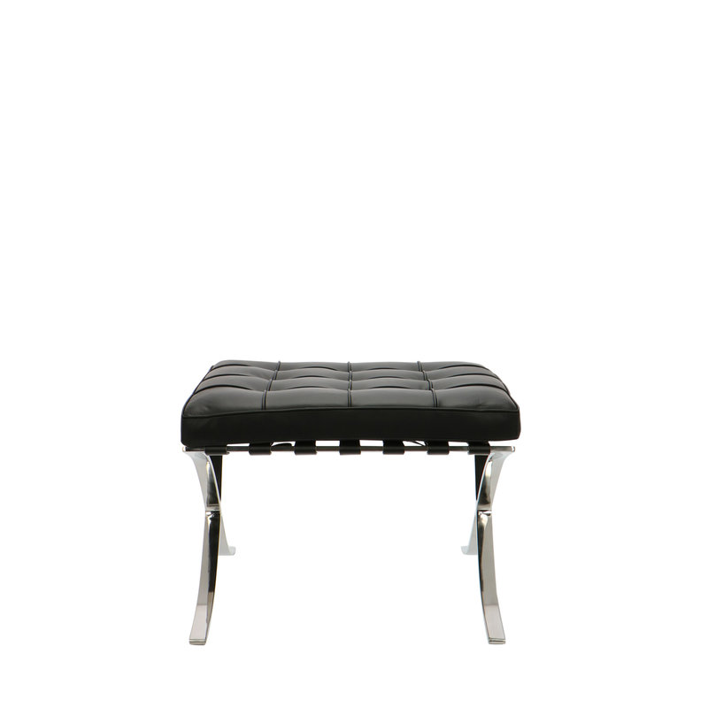 Barcelona chair Barcelona Chair Ottoman Premium Black