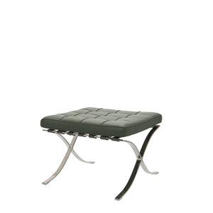 Barcelona Chair Ottoman Premium Grau