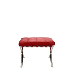 Barcelona chair Barcelona Stol Ottoman Premium Rød