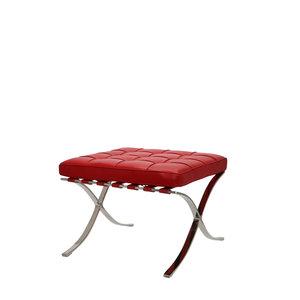 Barcelona Chair Ottoman Premium Rot