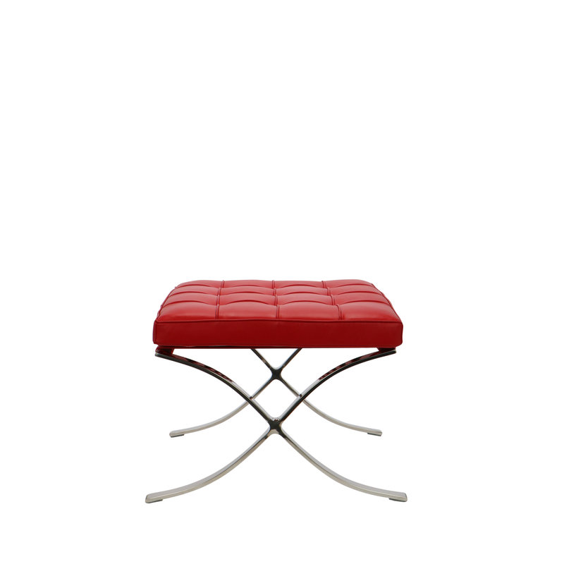 Barcelona chair Barcelona Chair Ottoman Premium Rot