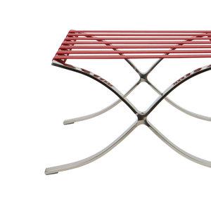 Pavilion chair Pavilion Fåtölj Ottoman Premium Röd