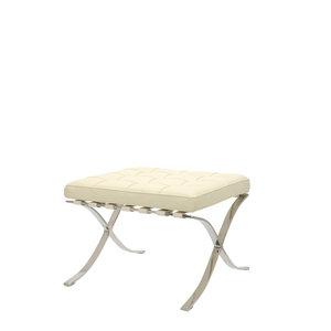 Barcelona Chair Ottoman Premium Crème