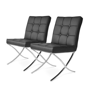Barcelona Dining Chairs Black- set of 2