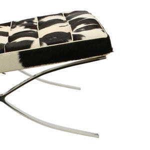 Barcelona chair Barcelona Chair Cowhide Black/Crème
