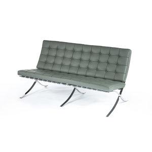 Barcelona Sofa Premium Grau