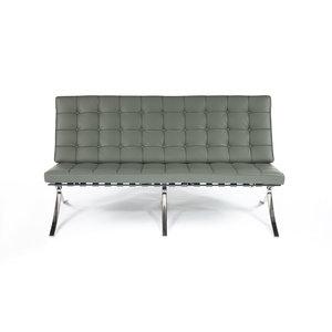 Barcelona chair Barcelona Sofa Premium Grau