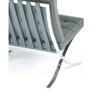 Barcelona chair Barcelona 2 Seater Premium Grey